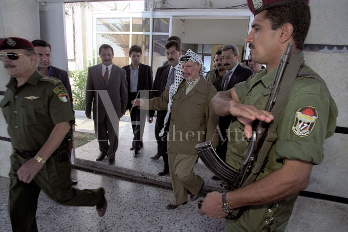 Yasser Arafat in his bunker07